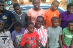 With the children