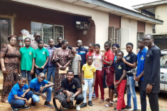 Ikoyi Baptist Church paying a visit to the home